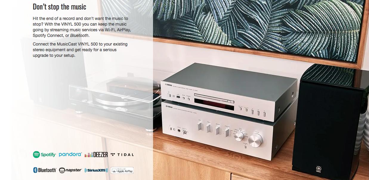 MusicCast VINYL 500 - Wi-Fi Turntable - Black